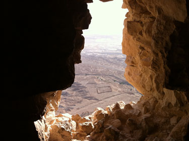 Atop Masada, overlooking a Roman camp