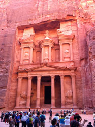 The Treasury (think Temple of Doom) in Petra, Jordan